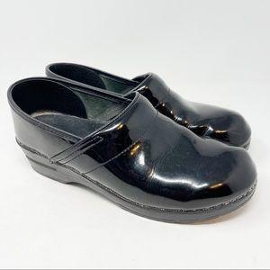 DANSKO Women's Clogs Nursing Black Patent Leather